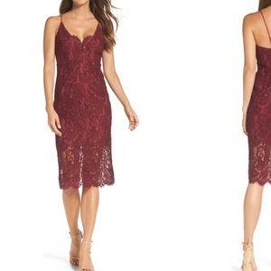 Bardot Midi Lace Cocktail Dress (size 8)